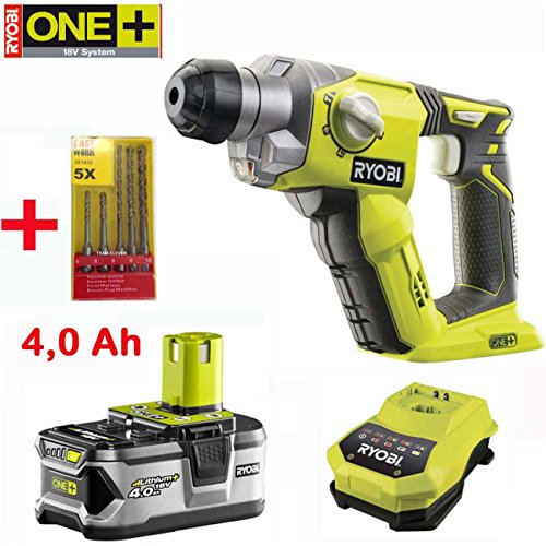 ryobi 18v one akku bohrhammer r18sds 0 mit 4 0 ah lithium. Black Bedroom Furniture Sets. Home Design Ideas